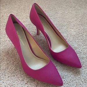 New BCBG spring fuchsia heels
